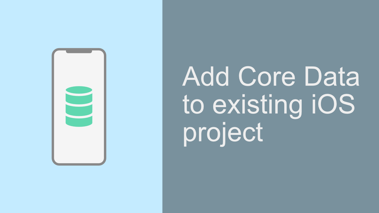Add Core Data to Existing iOS Project