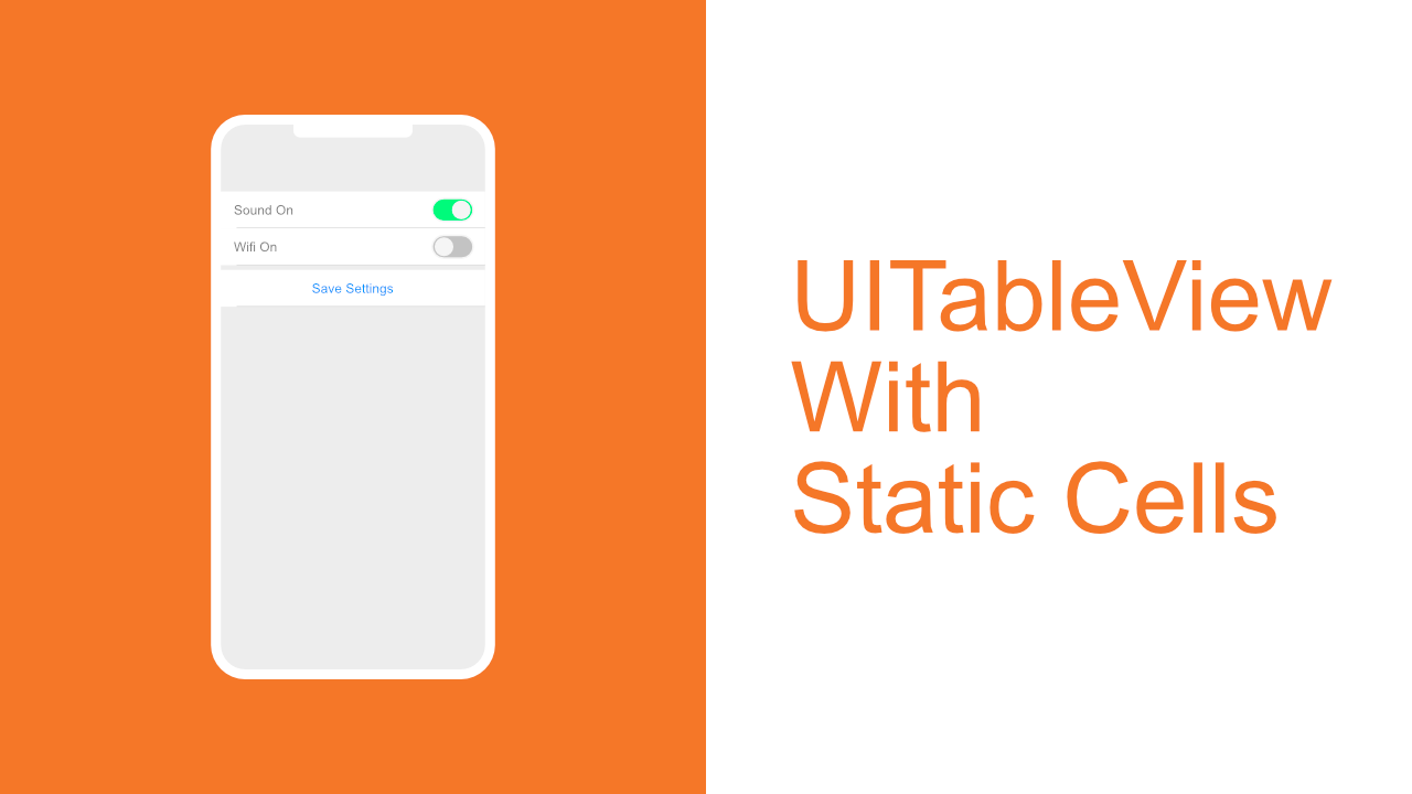 UITableView With Static Cells