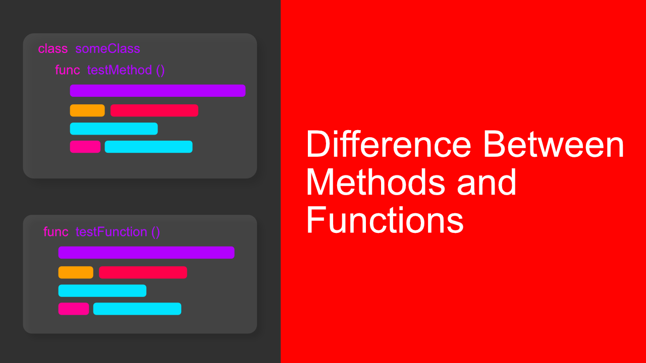 Difference Between Methods and Functions in Swift