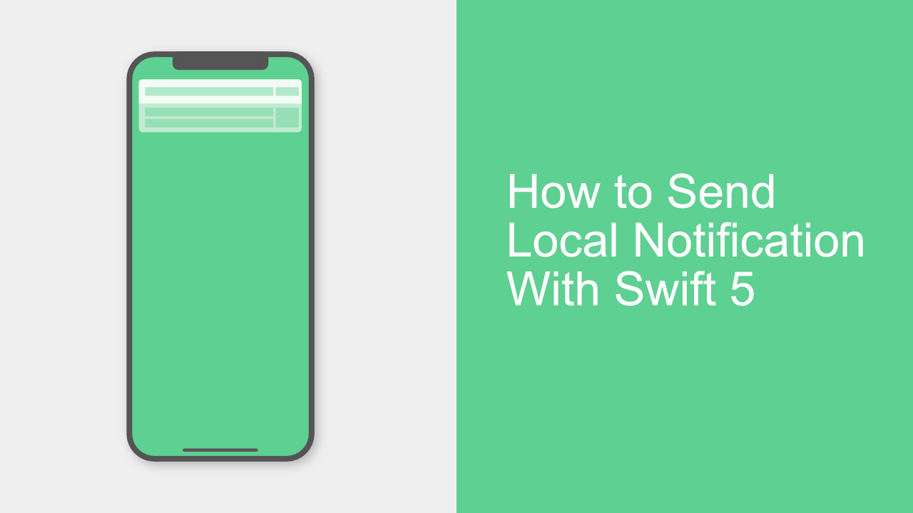 How to Send Local Notification With Swift