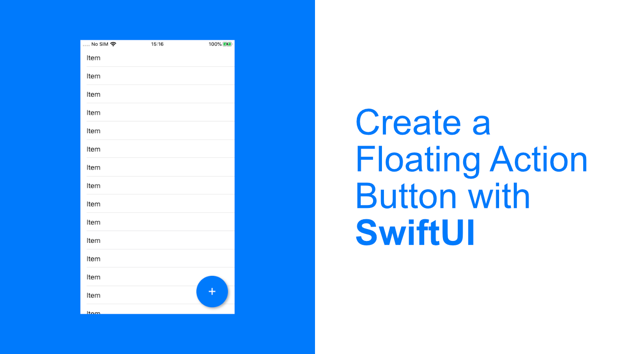 Create a Floating Action Button with SwiftUI