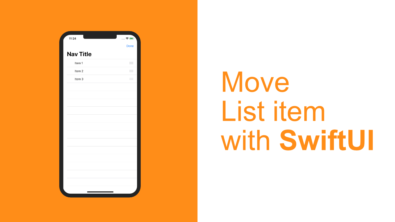 Move List item with SwiftUI