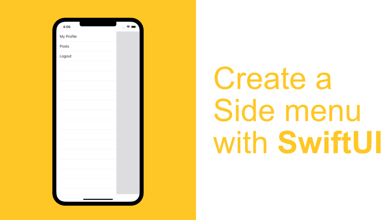 Create a Slide out Menu with SwiftUI