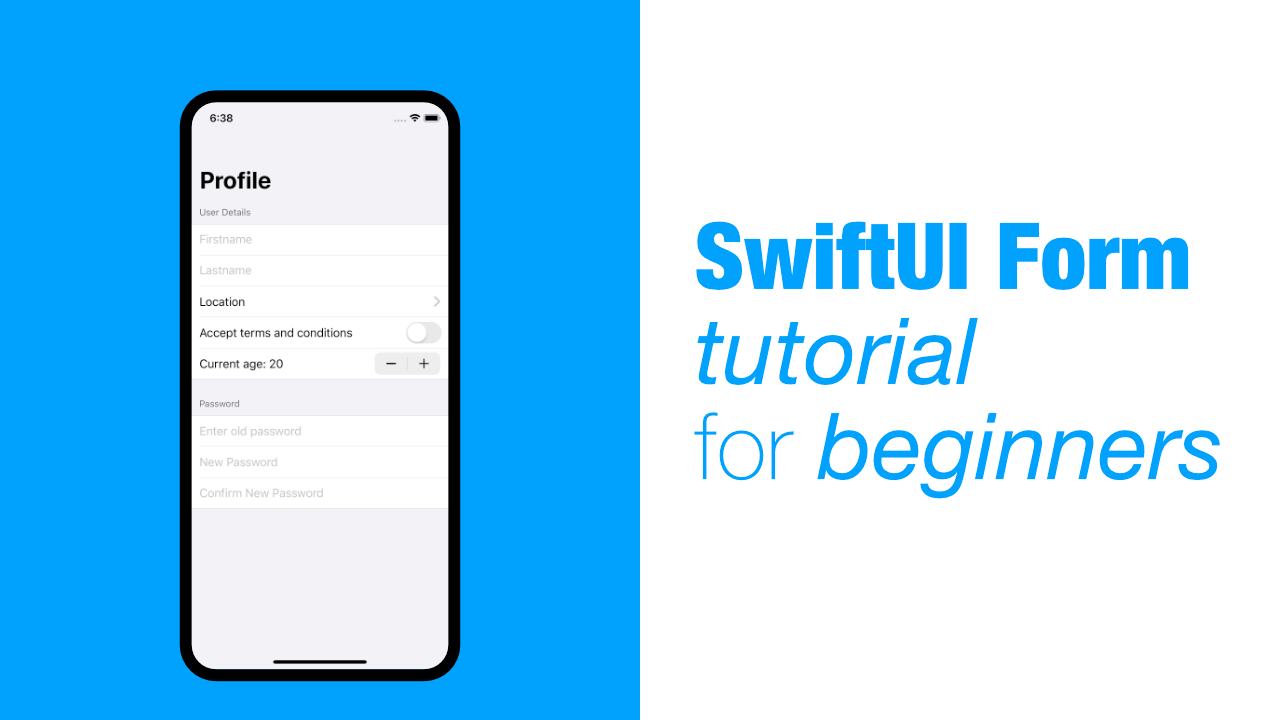 SwiftUI Form tutorial for beginners