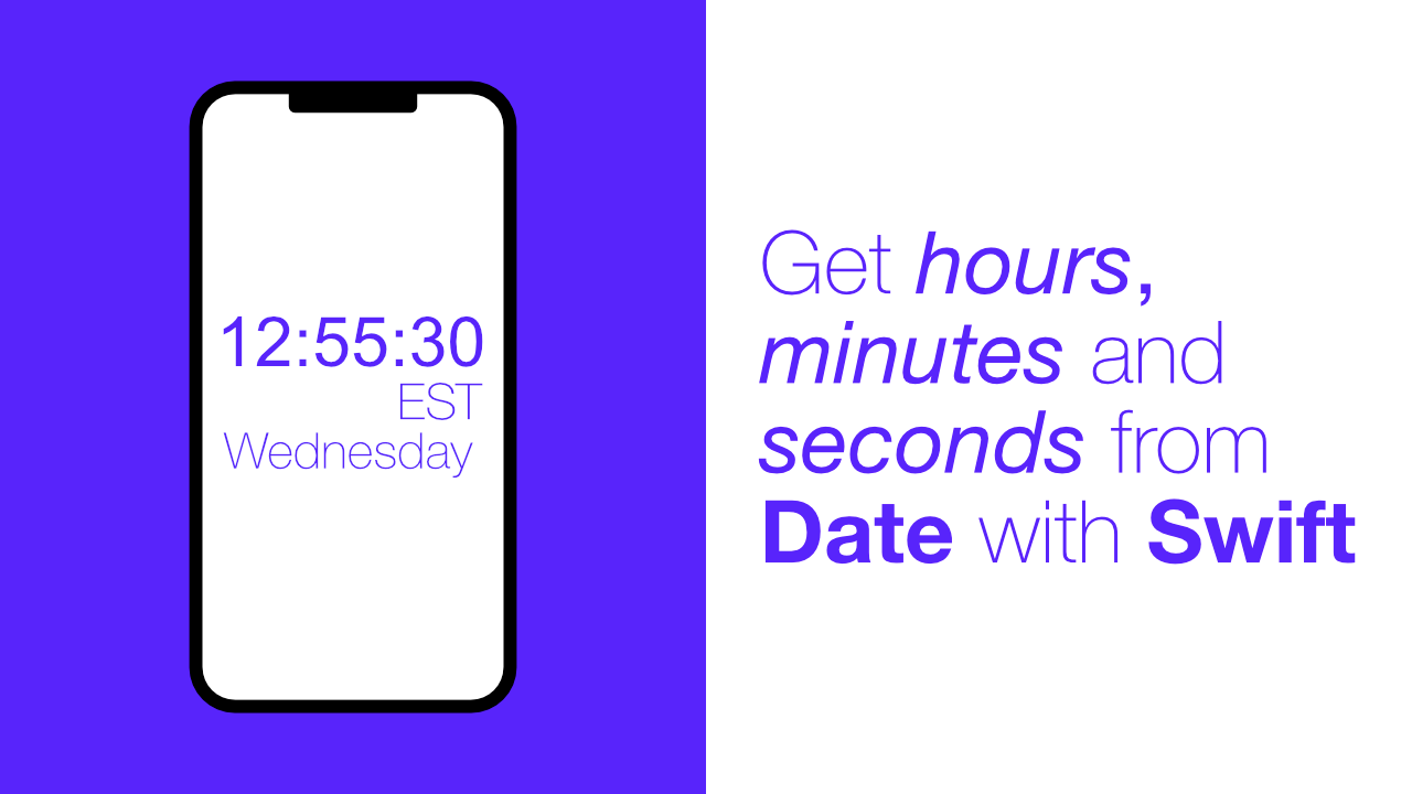 Get hours, minutes and seconds from Date with Swift