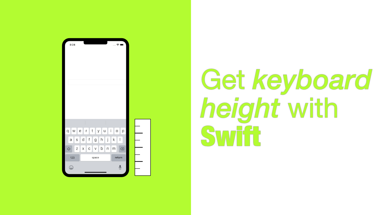 Get keyboard height with Swift