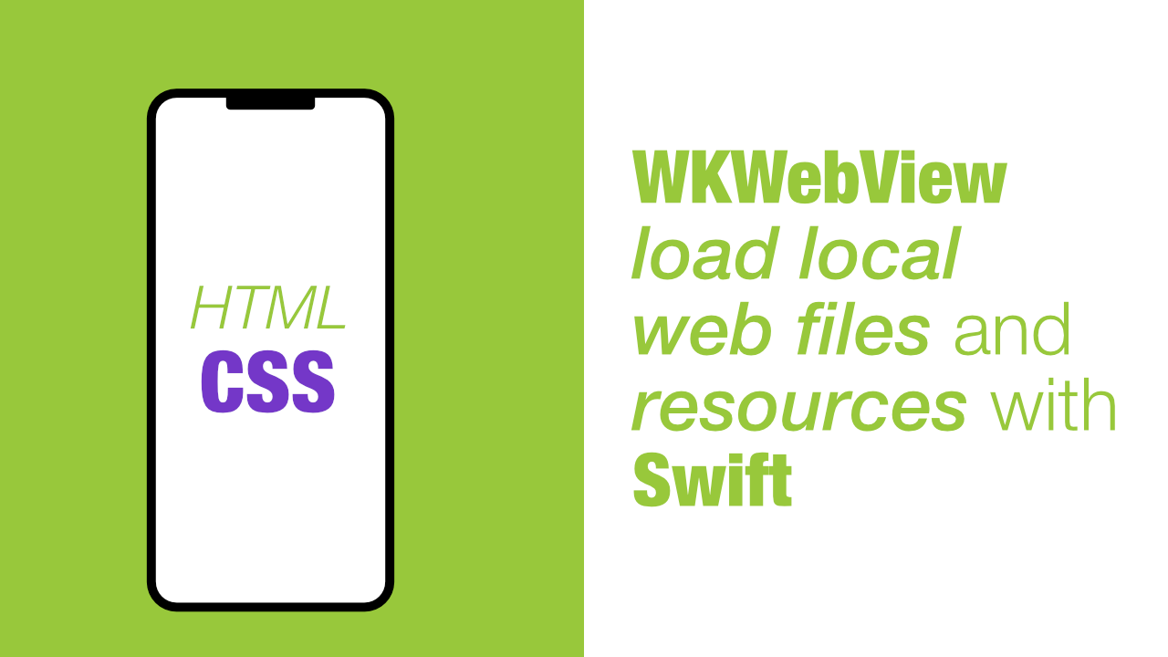WKWebView load local web files and resources with Swift