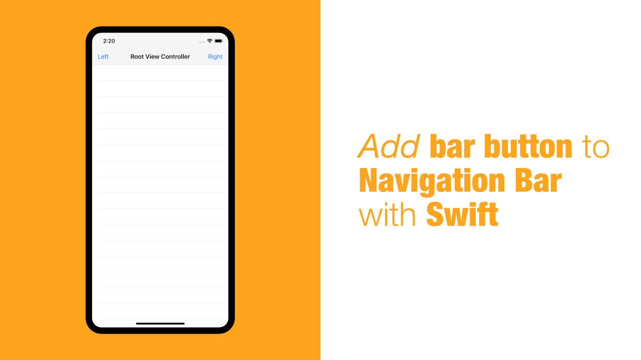 Add bar button to Navigation Bar with Swift