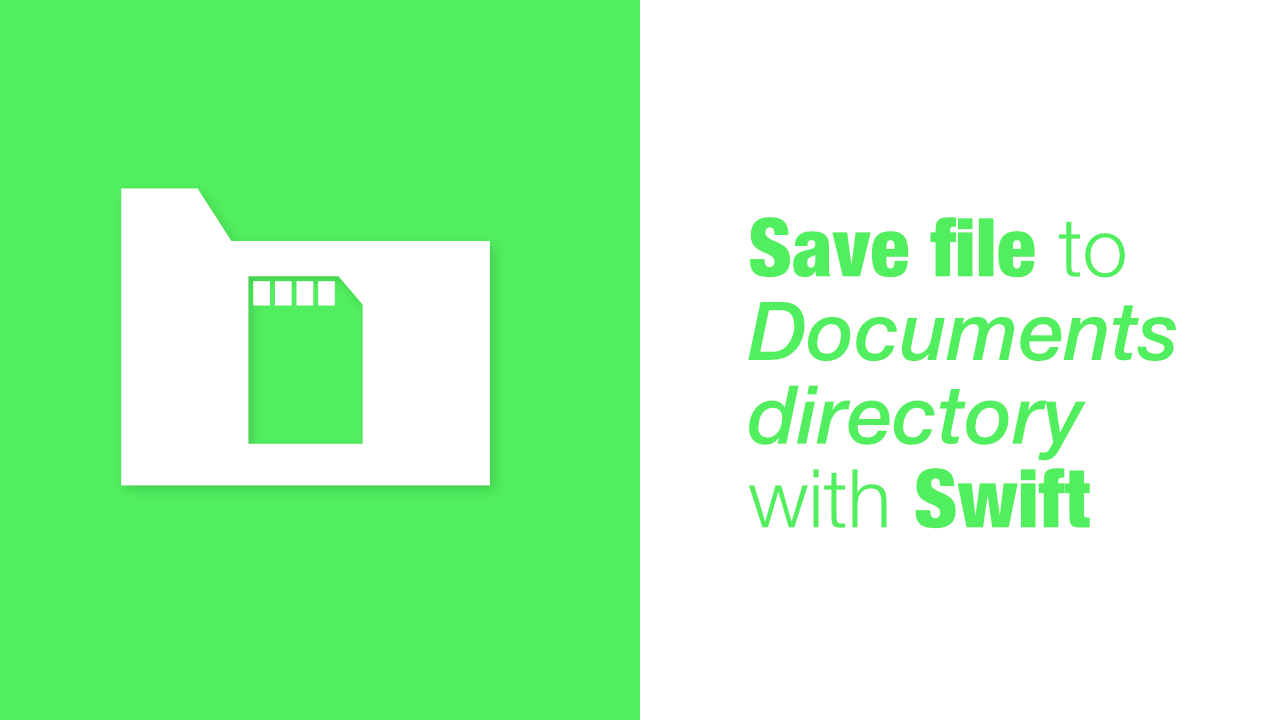 Save file to Documents directory with Swift