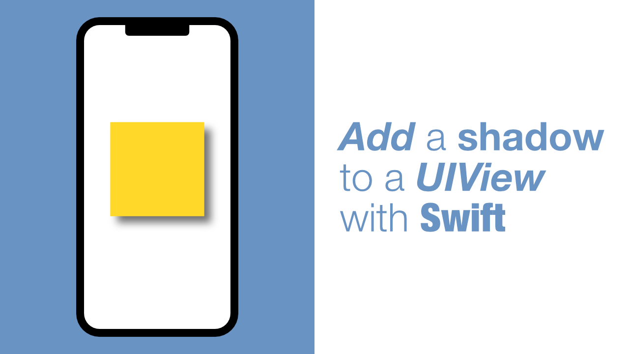 Add a shadow to a UIView with Swift