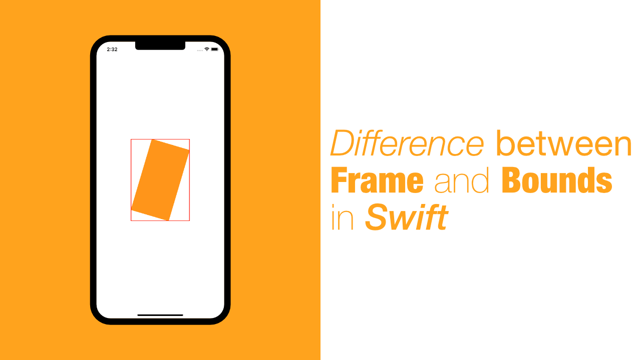 Difference between Frame and Bounds in Swift