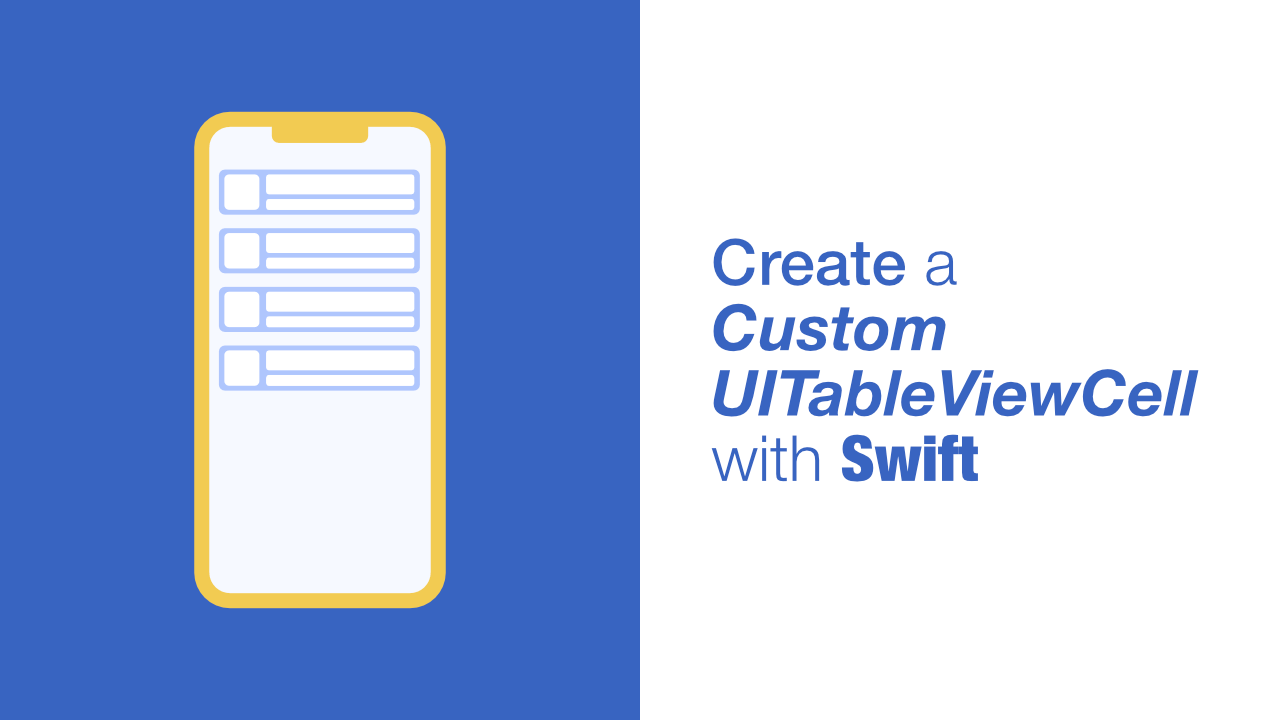 Create a Custom UITableViewCell with Swift