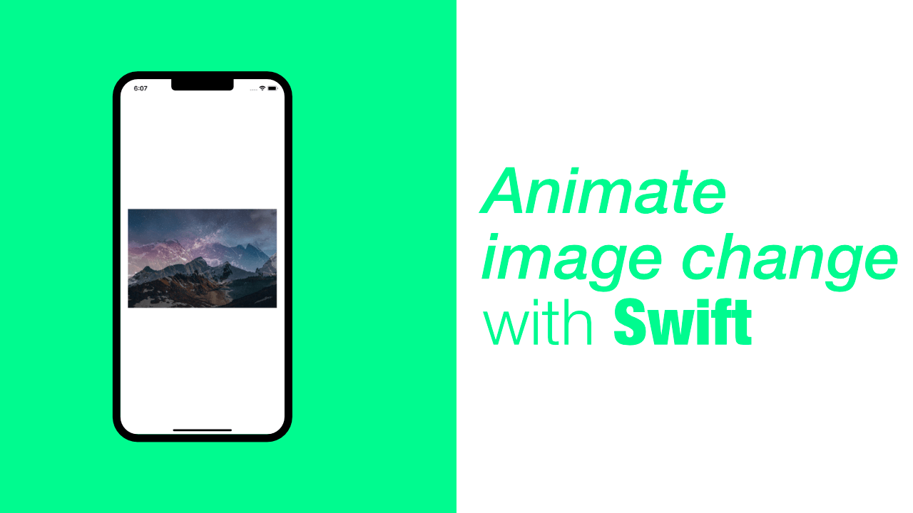 Animate image change with Swift