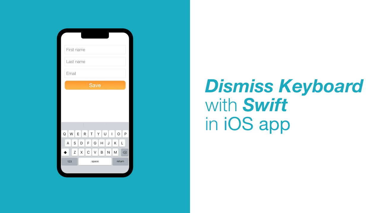 Dismiss Keyboard with Swift in iOS app