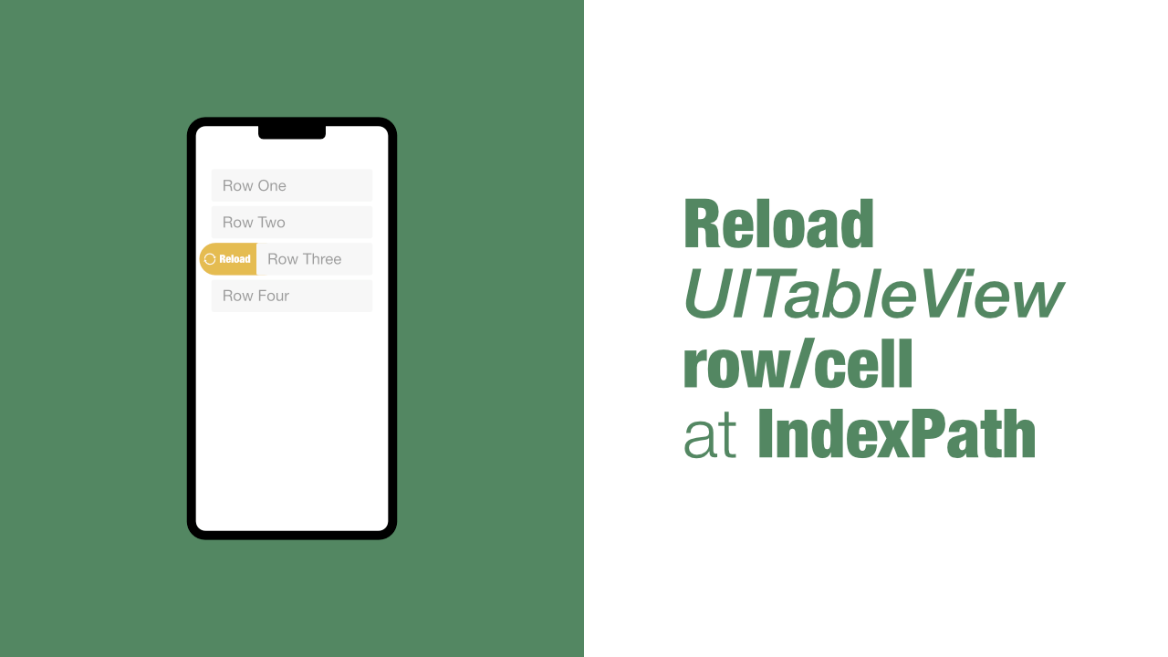 Reload UITableView row/cell at IndexPath