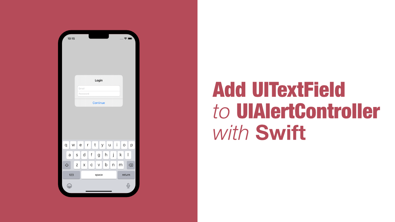 Add UITextField to UIAlertController with Swift