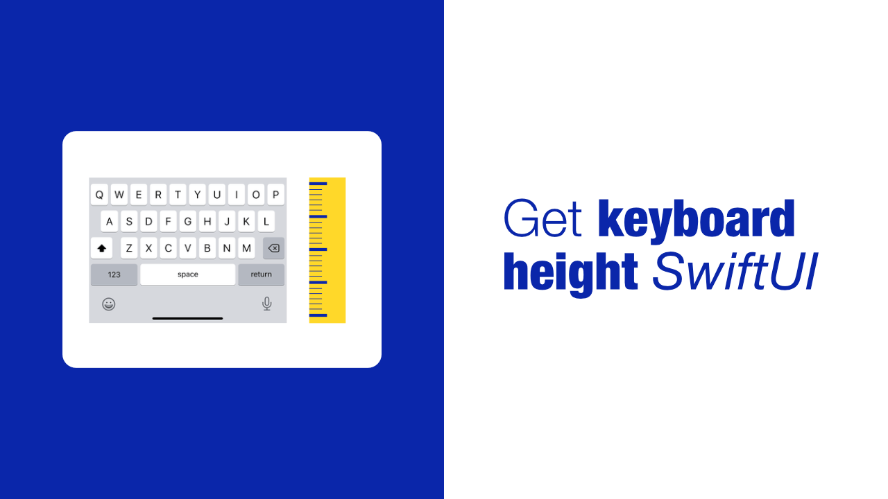 Get keyboard height in SwiftUI