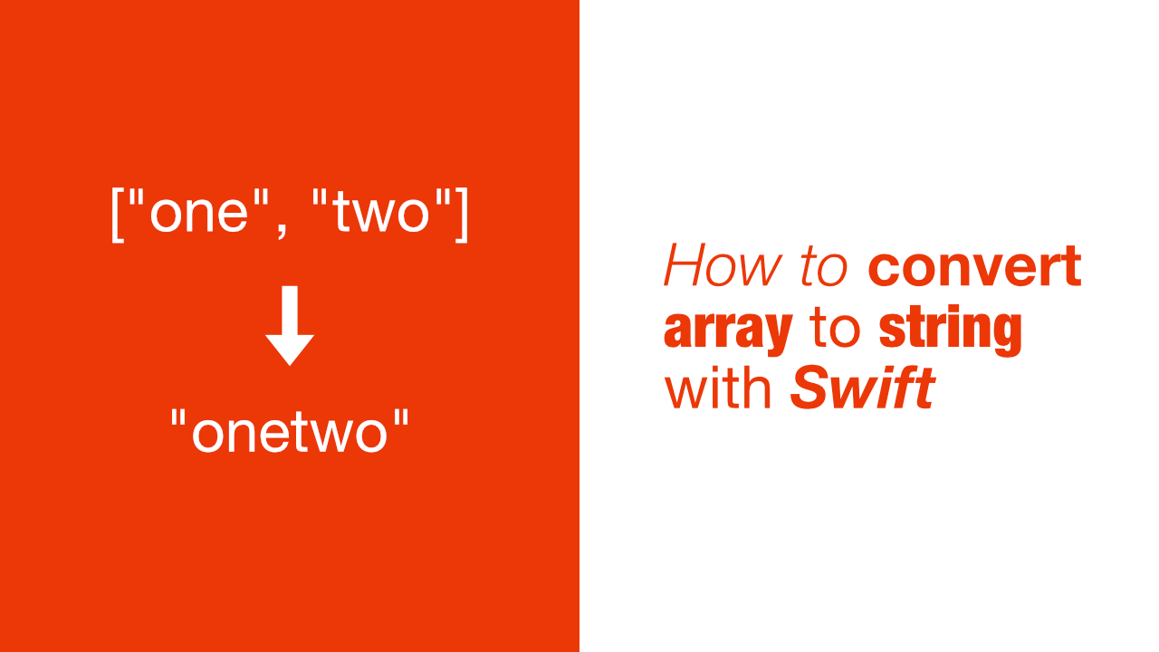 How to convert array to string with Swift