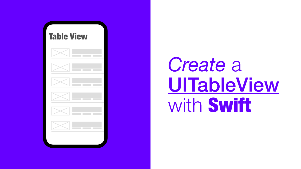 Create a UITableView with Swift