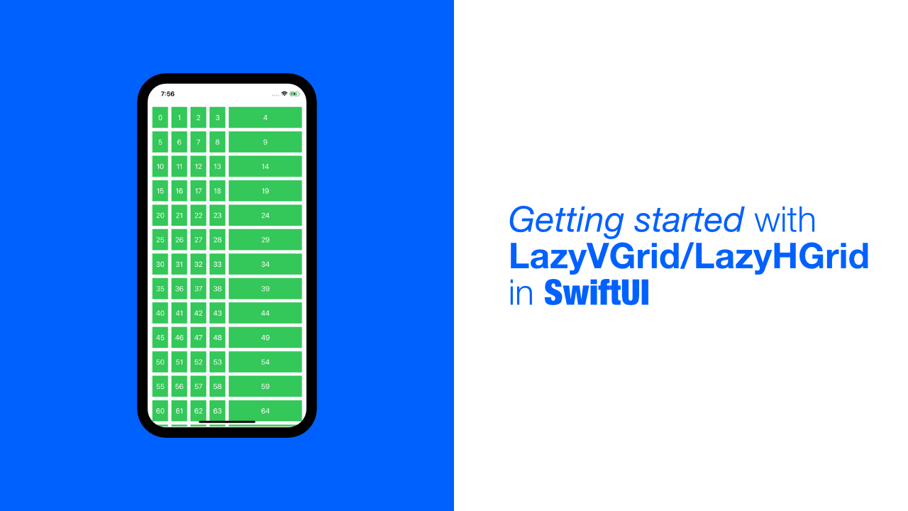 Getting started with LazyVGrid/LazyHGrid in SwiftUI