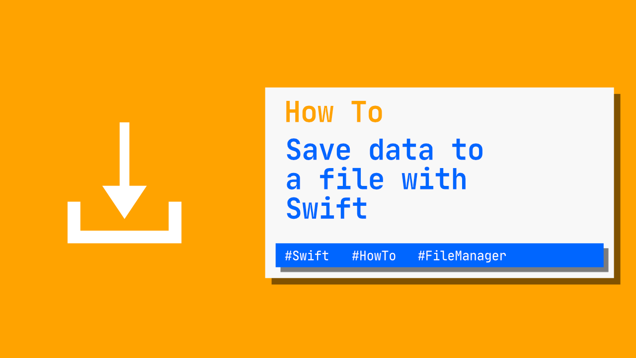 How to save data to file with Swift