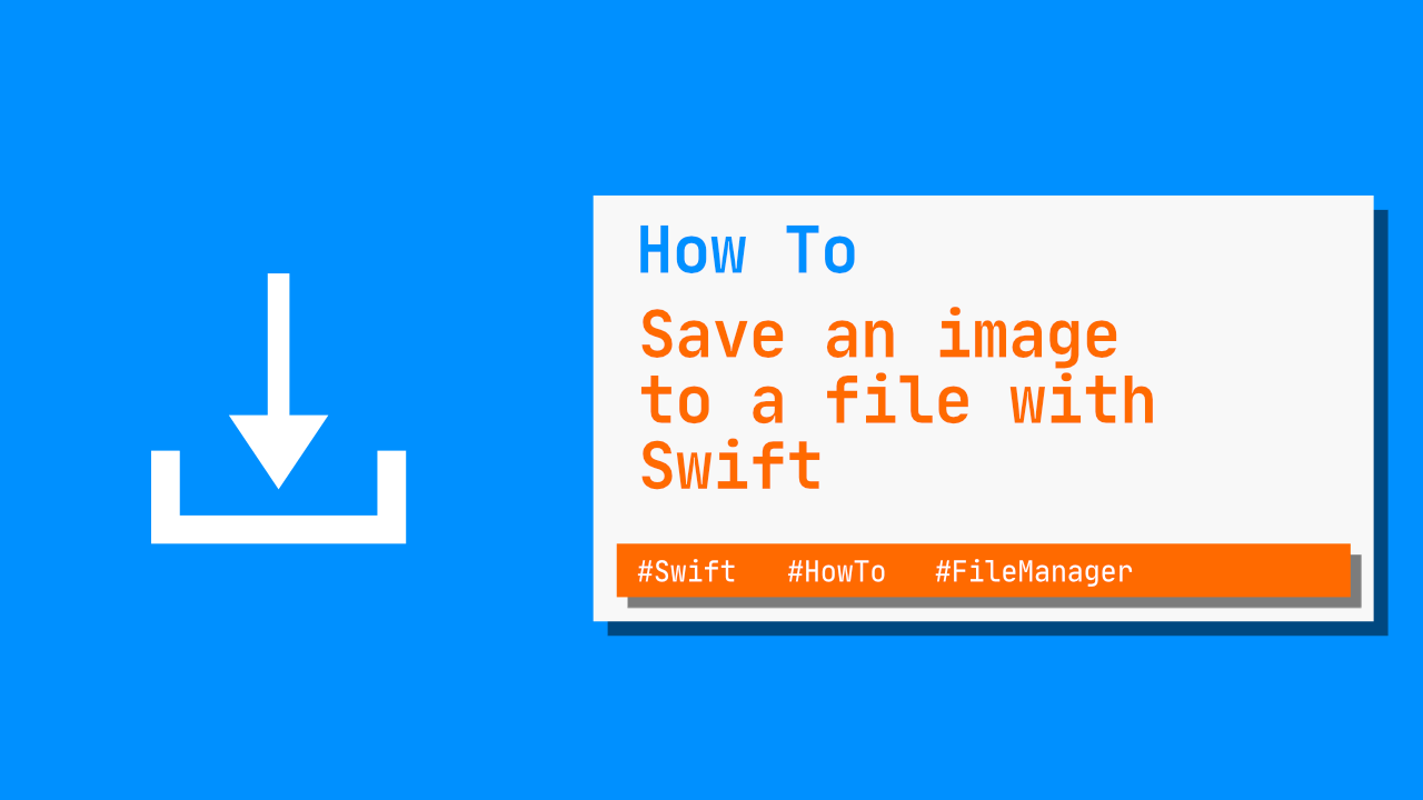 How to save an image to file with Swift