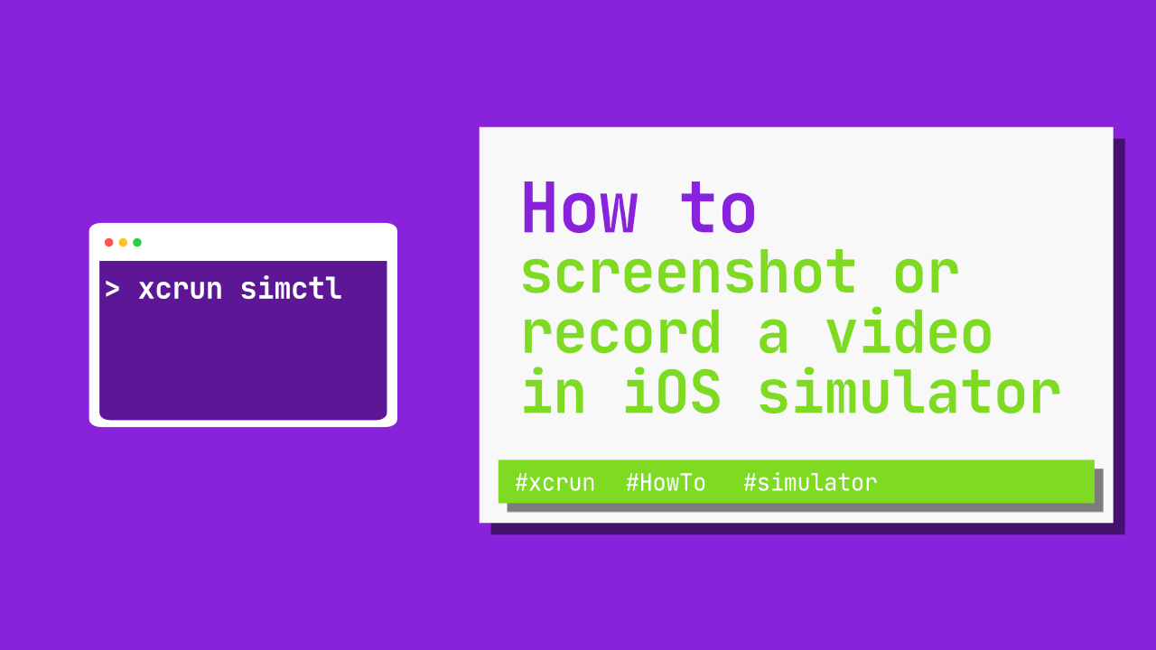 How to screenshot or record a video in the iOS simulator