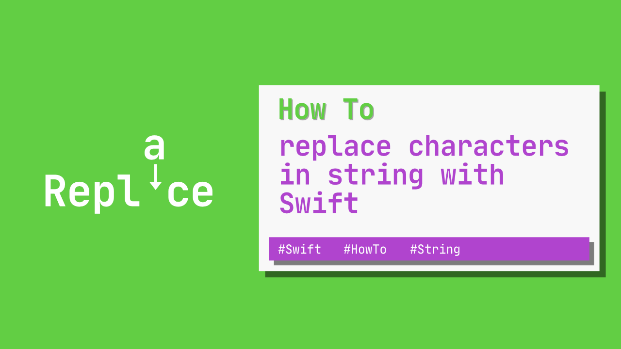 How to replace characters in string with Swift