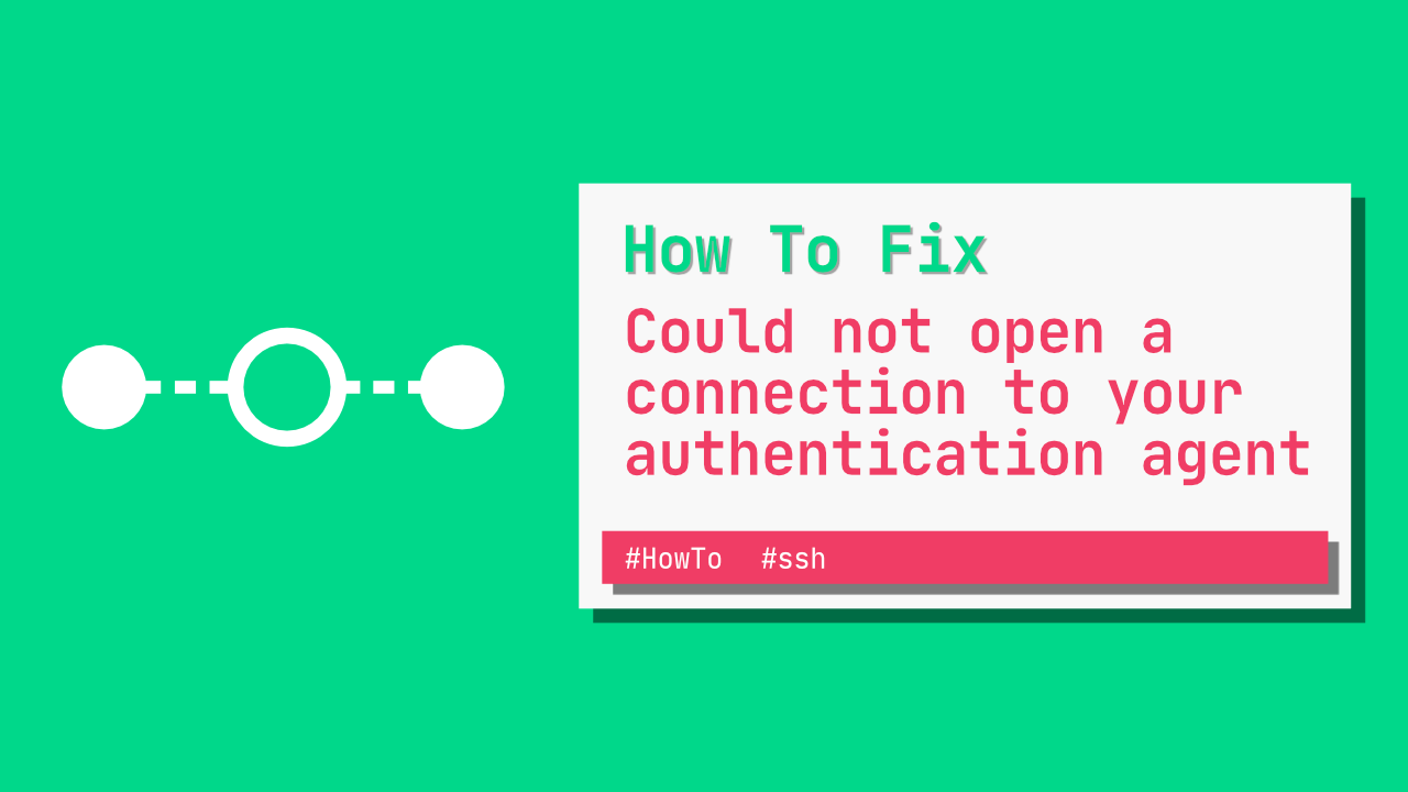 Could not open a connection to your authentication agent